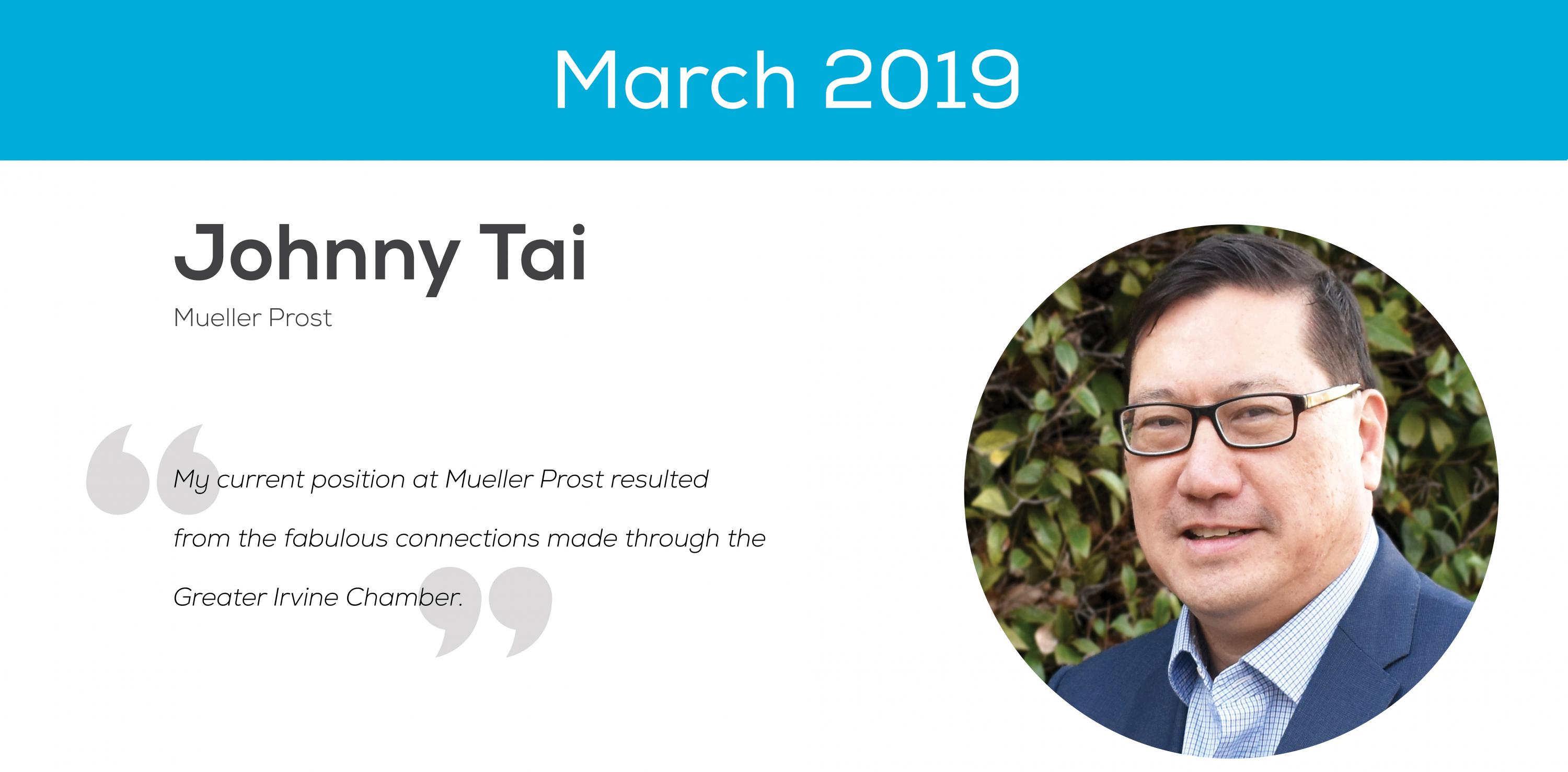 Johnny Tai March 2019 Ambassador of the Month